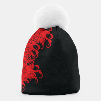Thumbnail image of Red New Wave Beanie, Live Heroes