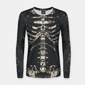 Thumbnail image of Tattooed Skeleton  Women sweater, Live Heroes