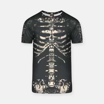 Miniatur Tattooed Skeleton  T-shirt, Live Heroes