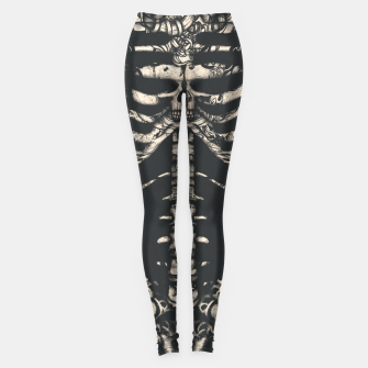Miniatur Tattooed Skeleton  Leggings, Live Heroes