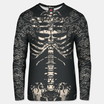 Miniatur Waved Tattooed Skeleton  Unisex sweater, Live Heroes