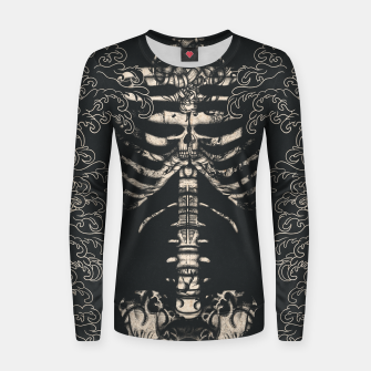 Thumbnail image of Waved Tattooed Skeleton  Women sweater, Live Heroes
