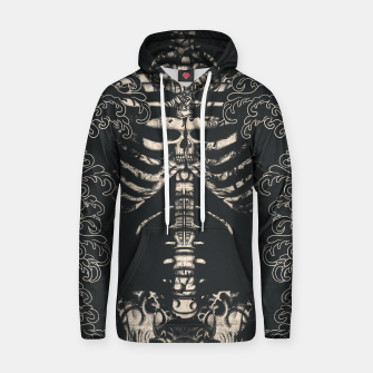 Miniatur Waved Tattooed Skeleton  Hoodie, Live Heroes