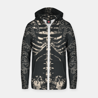 Miniatur Waved Tattooed Skeleton  Zip up hoodie, Live Heroes
