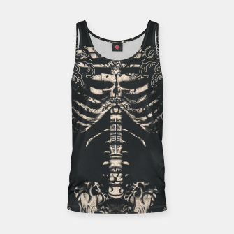 Miniatur Waved Tattooed Skeleton  Tank Top, Live Heroes