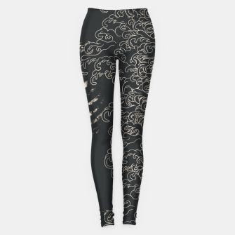 Miniatur Waved Tattooed Skeleton  Leggings, Live Heroes