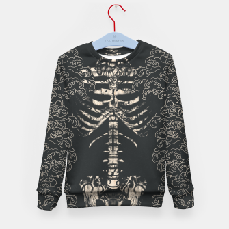 Miniatur Waved Tattooed Skeleton  Kid's sweater, Live Heroes