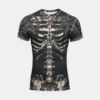 Miniatur Waved Tattooed Skeleton  Shortsleeve rashguard, Live Heroes
