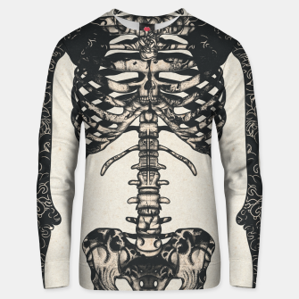 Miniatur Light Tattooed Skeleton  Unisex sweater, Live Heroes
