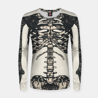 Miniatur Light Tattooed Skeleton  Women sweater, Live Heroes