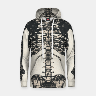 Miniatur Light Tattooed Skeleton  Hoodie, Live Heroes
