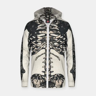 Miniatur Light Tattooed Skeleton  Zip up hoodie, Live Heroes