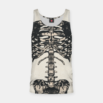 Miniatur Light Tattooed Skeleton  Tank Top, Live Heroes
