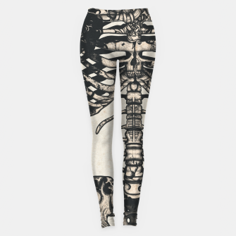 Miniaturka Light Tattooed Skeleton  Leggings, Live Heroes