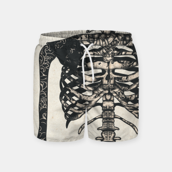 Miniatur Light Tattooed Skeleton  Swim Shorts, Live Heroes