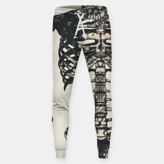 Miniatur Light Tattooed Skeleton  Sweatpants, Live Heroes