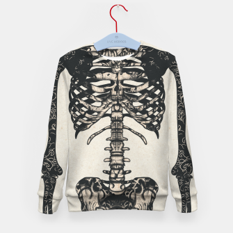Miniatur Light Tattooed Skeleton  Kid's sweater, Live Heroes