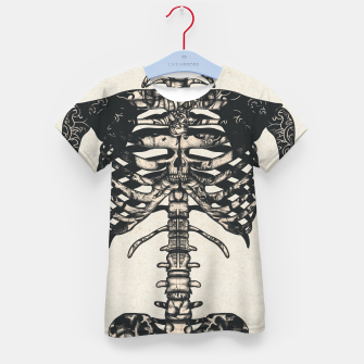 Miniatur Light Tattooed Skeleton  Kid's t-shirt, Live Heroes