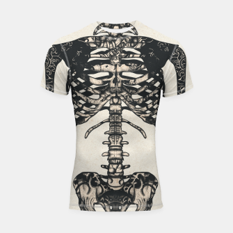 Miniatur Light Tattooed Skeleton  Shortsleeve rashguard, Live Heroes