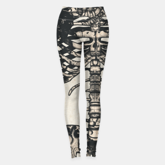 Miniatur Light Tattooed Skeleton  Leggings, Live Heroes