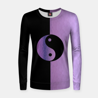 Thumbnail image of Yin And Yang Purple Women sweater, Live Heroes