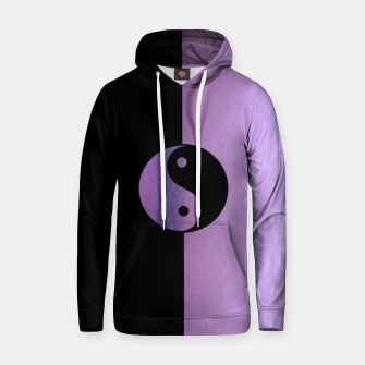 Miniatur Yin And Yang Purple Hoodie, Live Heroes