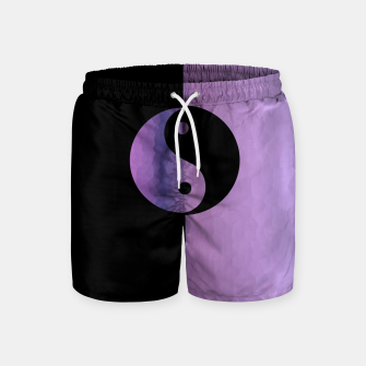 Thumbnail image of Yin And Yang Purple Swim Shorts, Live Heroes