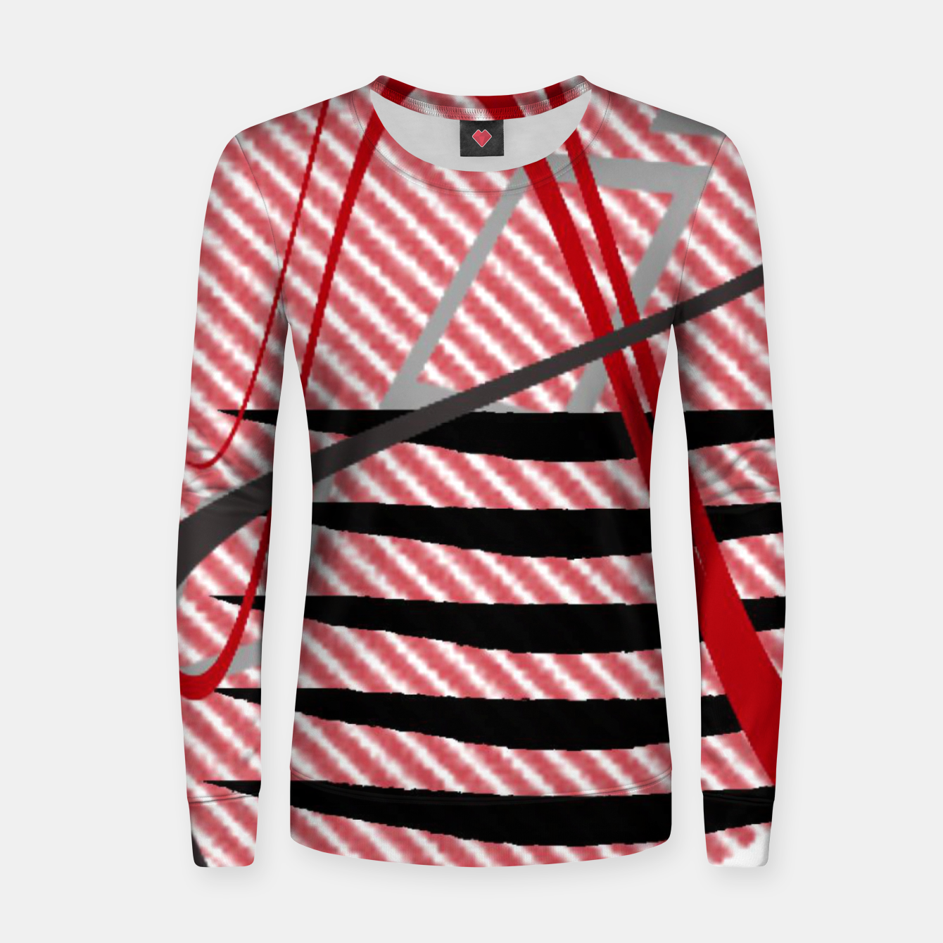 Image of Abstract geometric sunset Women sweater - Live Heroes