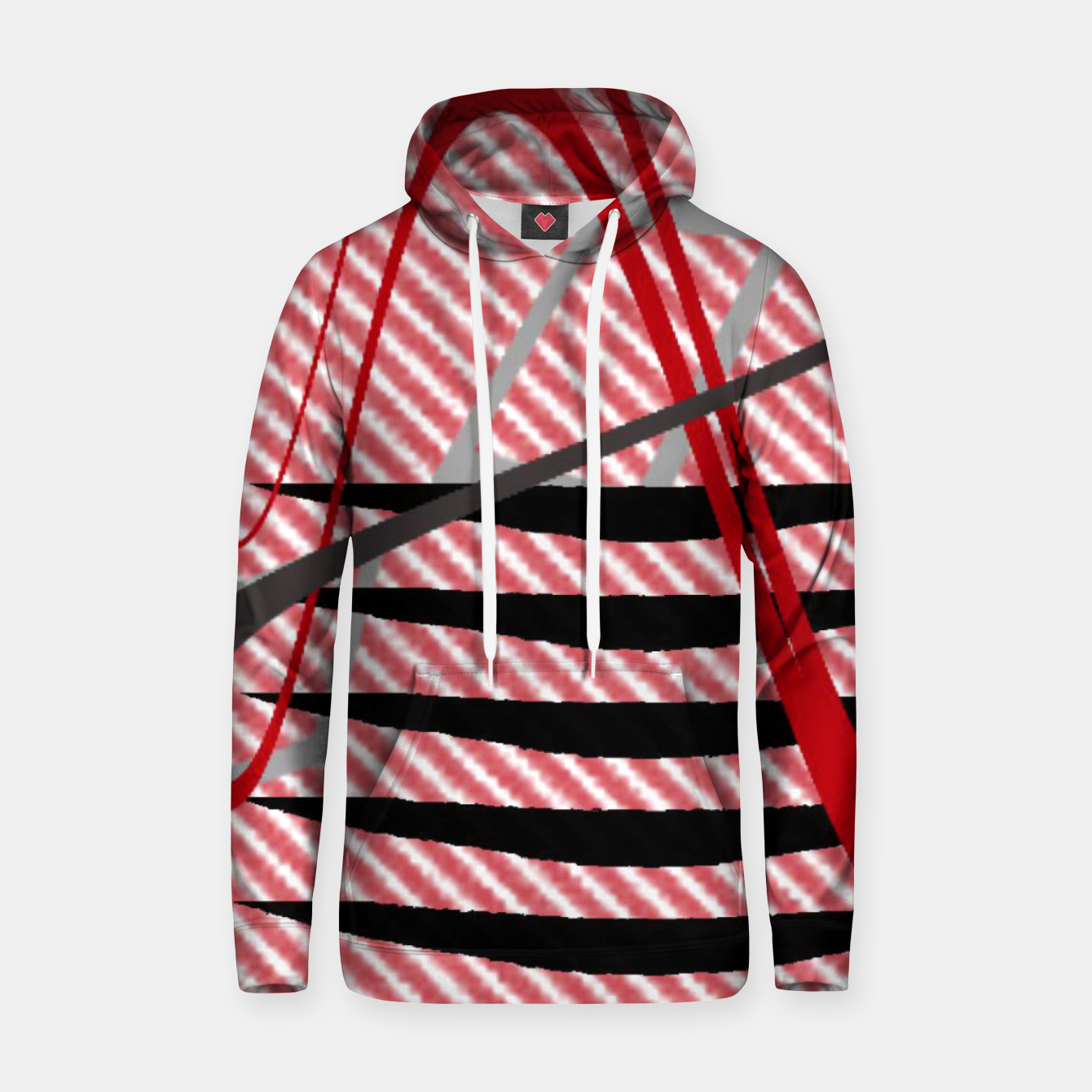 Image of Abstract geometric sunset Hoodie - Live Heroes