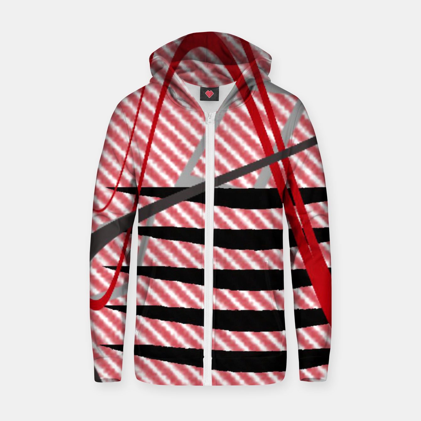Image of Abstract geometric sunset Zip up hoodie - Live Heroes