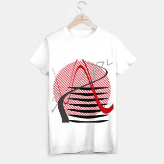Abstract geometric sunset T-shirt regular Bild der Miniatur