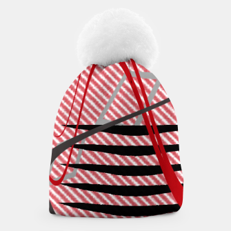 Thumbnail image of Abstract geometric sunset Beanie, Live Heroes
