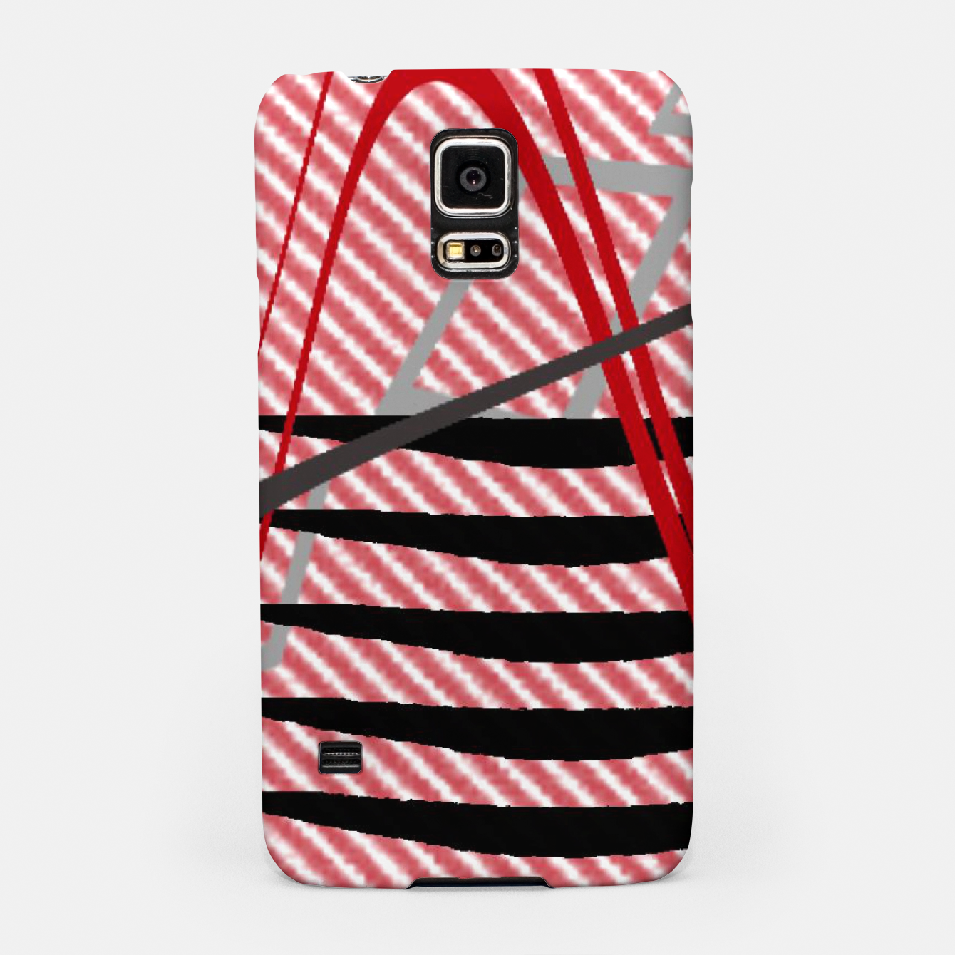 Image of Abstract geometric sunset Samsung Case - Live Heroes