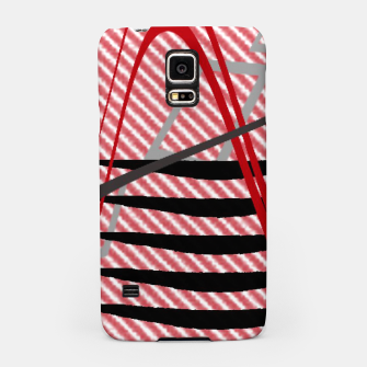 Miniatur Abstract geometric sunset Samsung Case, Live Heroes