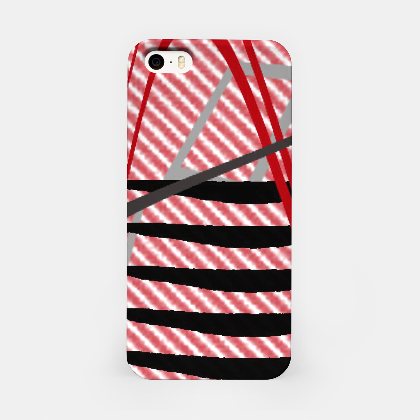 Image of Abstract geometric sunset iPhone Case - Live Heroes