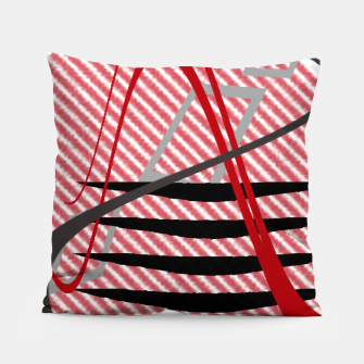 Thumbnail image of Abstract geometric sunset Pillow, Live Heroes
