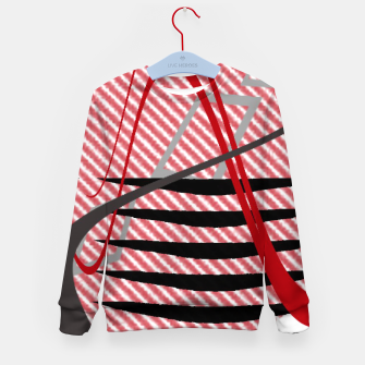 Thumbnail image of Abstract geometric sunset Kid's sweater, Live Heroes