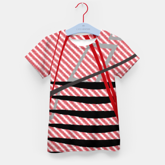 Miniatur Abstract geometric sunset Kid's t-shirt, Live Heroes