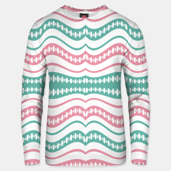 Thumbnail image of Waving Lines Vivid Print Pattern Unisex sweater, Live Heroes