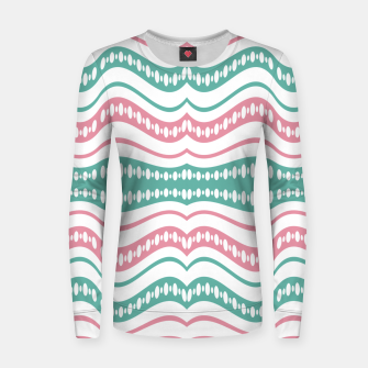 Thumbnail image of Waving Lines Vivid Print Pattern Women sweater, Live Heroes