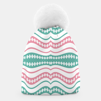 Thumbnail image of Waving Lines Vivid Print Pattern Beanie, Live Heroes