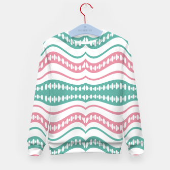 Thumbnail image of Waving Lines Vivid Print Pattern Kid's sweater, Live Heroes