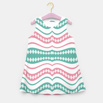 Thumbnail image of Waving Lines Vivid Print Pattern Girl's summer dress, Live Heroes