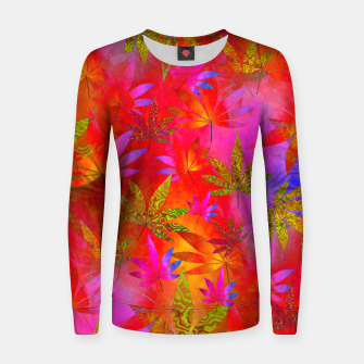 Thumbnail image of Weed 420 Design Red Women sweater, Live Heroes