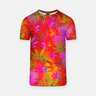 Miniatur Weed 420 Design Red T-shirt, Live Heroes