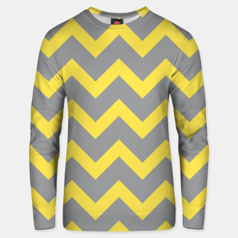 Thumbnail image of Chevron ultimate grey illuminating yellow pattern Unisex sweater, Live Heroes
