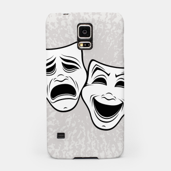 Comedy And Tragedy Theater Masks Black Line Samsung Case thumbnail image