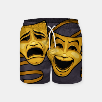Thumbnail image of Gold Comedy And Tragedy Theater Masks Swim Shorts, Live Heroes