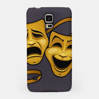 Miniatur Gold Comedy And Tragedy Theater Masks Samsung Case, Live Heroes