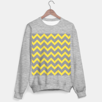 Thumbnail image of Chevron ultimate grey illuminating yellow pattern Sweater regular, Live Heroes